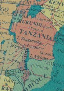 Malawi Tanzania map